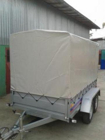 Remorca-platforma auto cu 2 axe de 750 kg de la