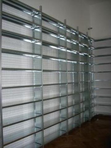 Rafturi metalice cu polite 500x1000x2500H - 6 niveluri