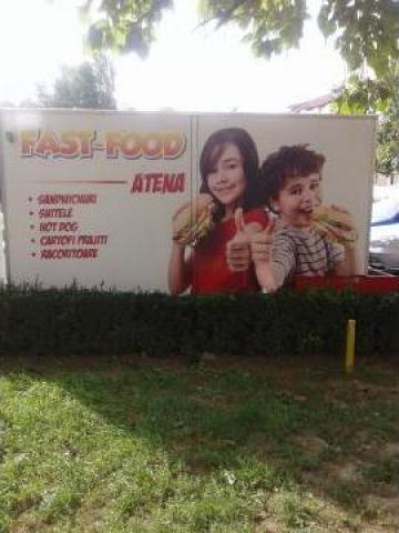 Rulota comerciala fast-food de la