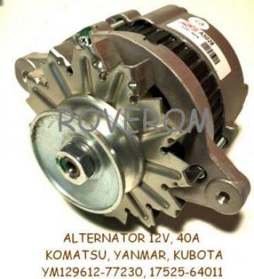 Alternator 12V, 40A, Komatsu, Yanmar, Kubota, Takeuchi