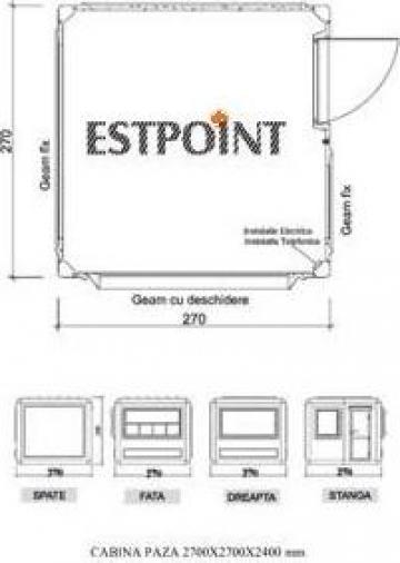 Cabine de paza structura metalica de la Estpoint SRL