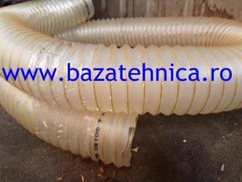 Furtun aspiratie aer fi 100 mm, cu spire metalice de la Baza Tehnica Alfa Srl
