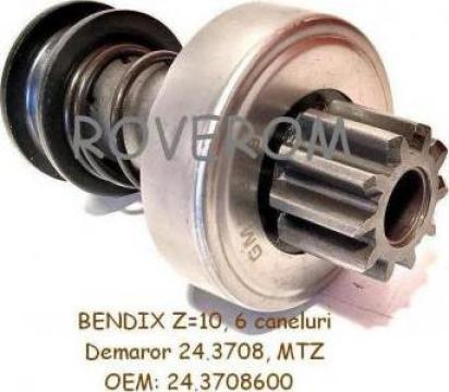 Bendix (Z=10) demaror 24.3708, MTZ-80, 82 de la Roverom Srl