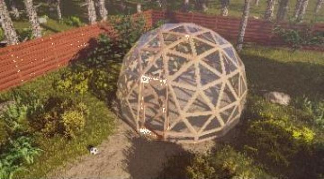 Sera de gradina Ambient D5 / Solar de la Red Dome Shelter Srl