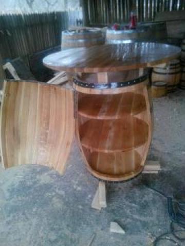 Masa butoi din lemn de stejar de la PFA Bratu Catalin