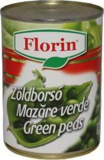 Conserva mazare verde cutie 425ml Florin de la Lorimod Prod Com Srl