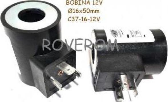 Bobina 12V, D16x50mm, electrovalva hidraulica