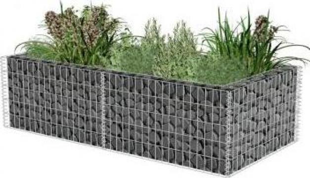 Jardiniera gabion 180 x 90 x 50 cm