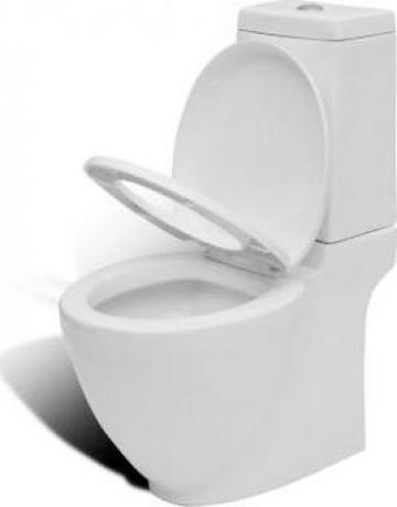 Vas WC cu rezervor, alb de la Vidaxl