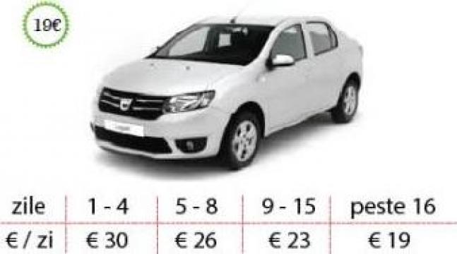 Inchirieri auto Timisoara - Dacia Logan de la West Rent A Car