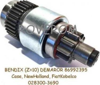 Bendix (Z=10dinti) demaror Case, New Holland, Fiat Kobelco de la Roverom Srl