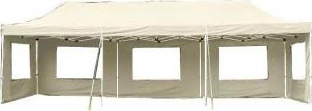 Pavilion pliabil Profi 3x9 m, alb acoperis impermeabil