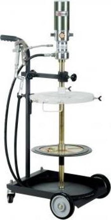 Pompa pneumatica gresat utilaje 50-60 kg cu carucior inclus de la Teom Tech Srl