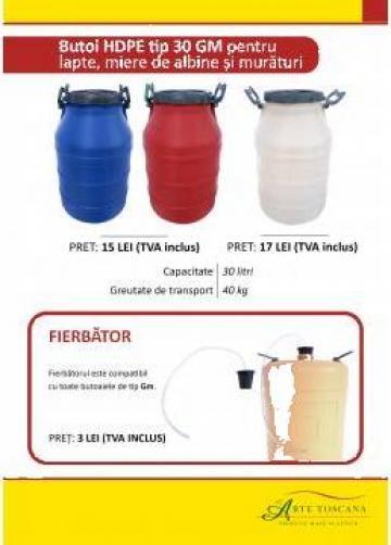 Butoaie din plastic pentru lapte si miere de albine de la L Arte Toscana Plast Srl.