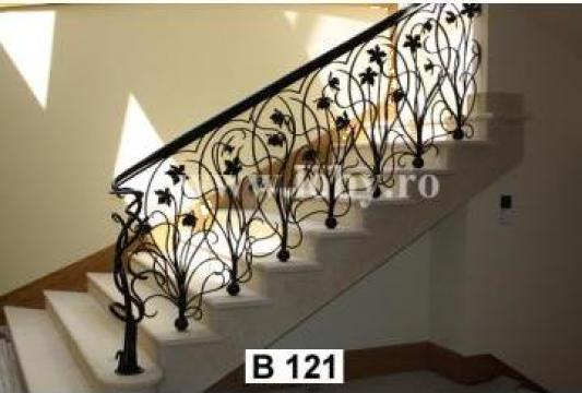 Balcoane si terase din fier forjat cu flori