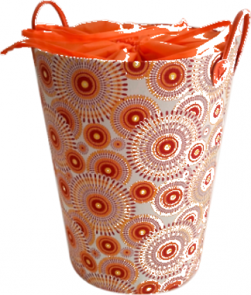 Cos rufe baie rotund Raki Moroceli orange de la Basarom Com