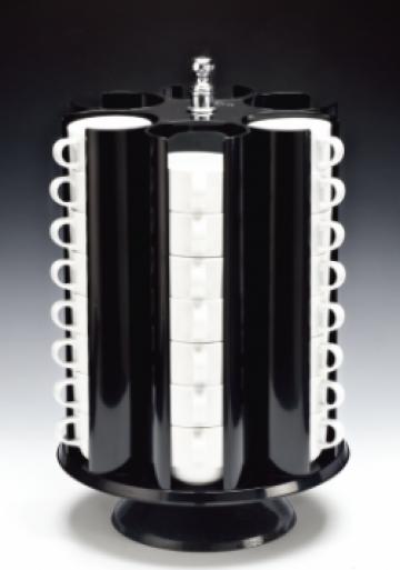 Suport rotativ pentru cesticafea si ceai 48 locuri de la Basarom Com