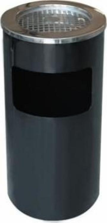 Scrumiera exterioara cu cos gunoi Icikala 30xh65cm neagra de la Basarom Com