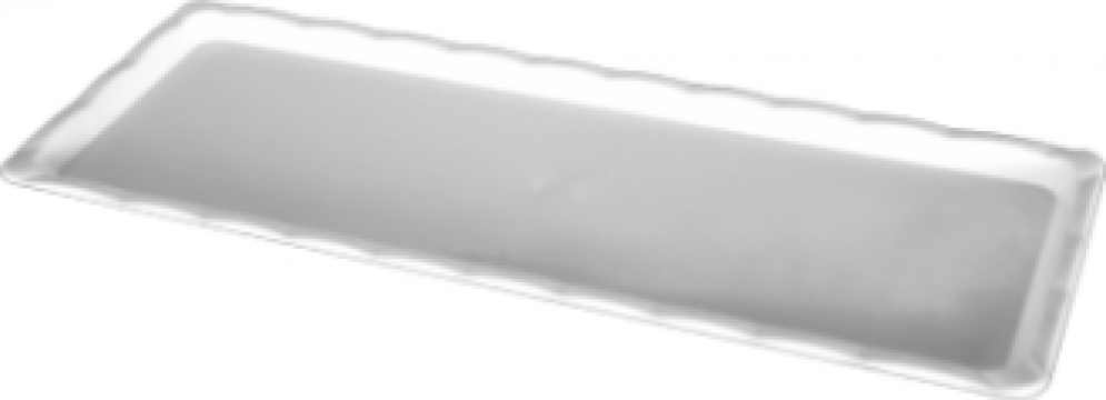Platou dreptunghiular policarbonat Raki pentru desert alb de la Basarom Com