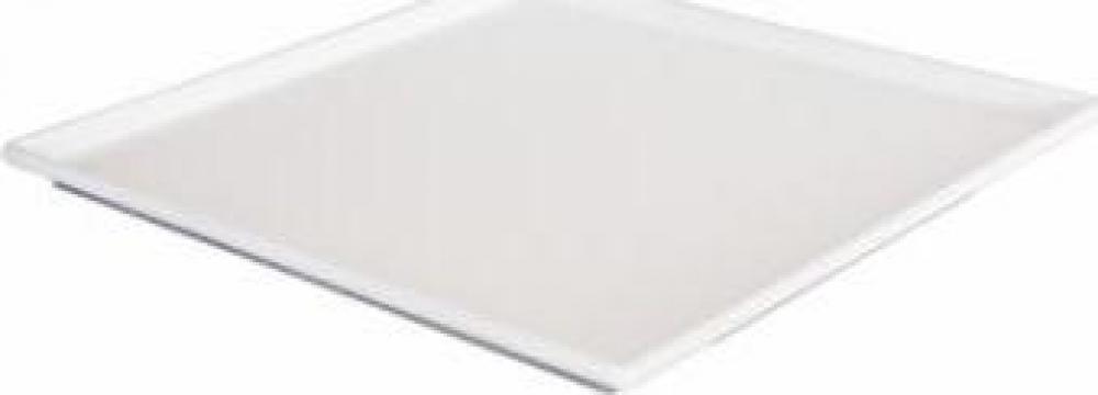 Platou patrat melamina Raki 29x29x1cm alb de la Basarom Com