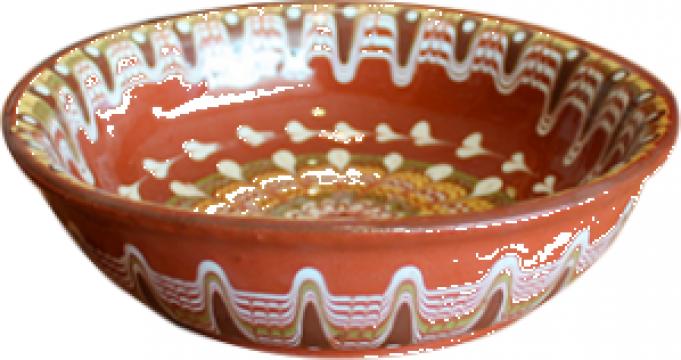 Farfurie adanca ceramica, lut 20cm de la Basarom Com