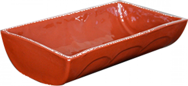 Tava ceramica, lut mica 18x12,5cm de la Basarom Com