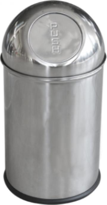 Cos cromat de gunoi 5 litri Push de la Basarom Com