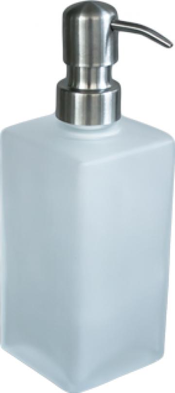 Dozator sapun baie patrat sticla de la Basarom Com