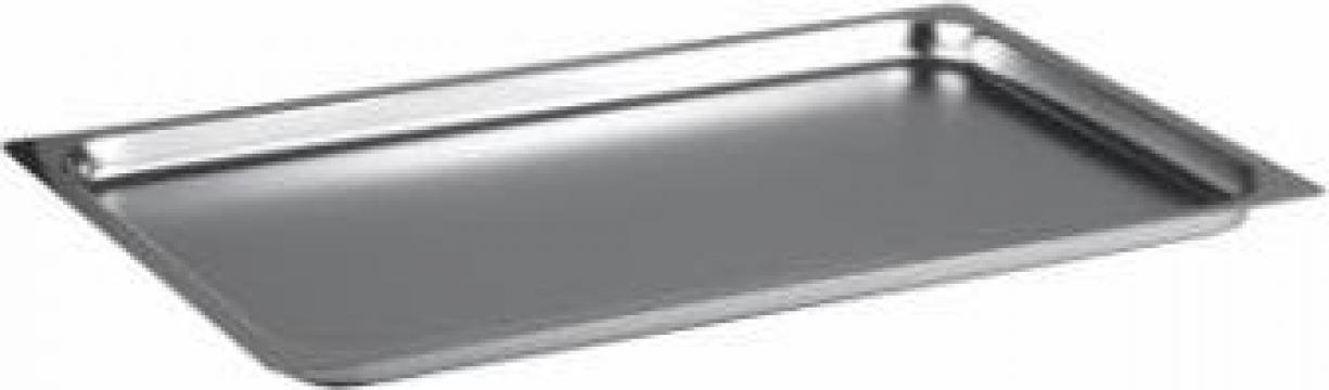 Tava inox gastronorm 1-1 GN, 10mm de la Basarom Com
