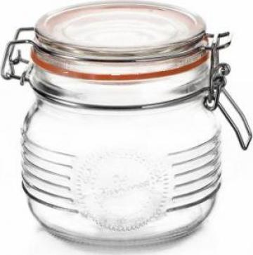 Borcan sticla Old Fashioned 0,5 L cu capac ermetic de la Basarom Com