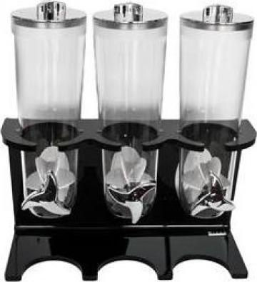 Dispensere pentru cereale Raki, suport acrilic negru, 3 buc. de la Basarom Com