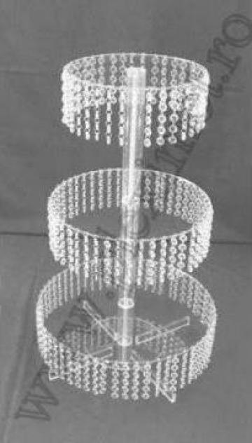 Suport de tort rotund cu cristale acrilice SPEv 31.2