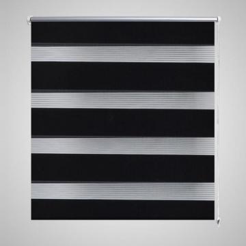 Jaluzea zebra 80 x 150 cm, negru
