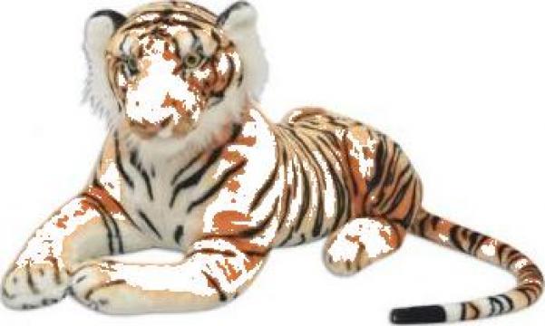 Jucarie tigru din plus, maro, XXL de la Vidaxl