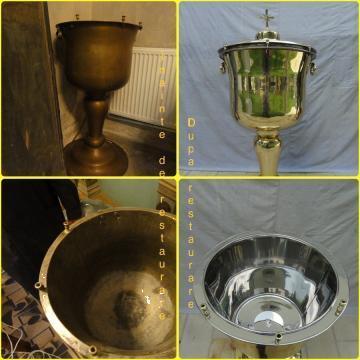 Restaurari candelabre, cristelnite, chivote, icoane metalice de la Electro Lighting Srl