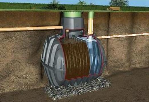Fosa septica mecanica Graf 8-10 locuitori 2700 litri de la Progreen Concept Ag SRL