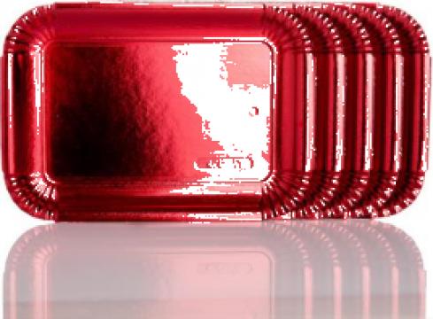 Tavite groase carton rosu metalizat N.2 (14x20,8cm) de la Cristian Food Industry Srl.