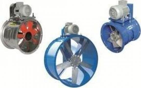Ventilator axial cu transmisie pe curea seria TS de la Professional Vent Systems Srl