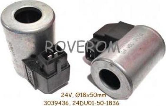 Bobina 24V, 18x50mm, conexiune electrica 2 pini de la Roverom Srl