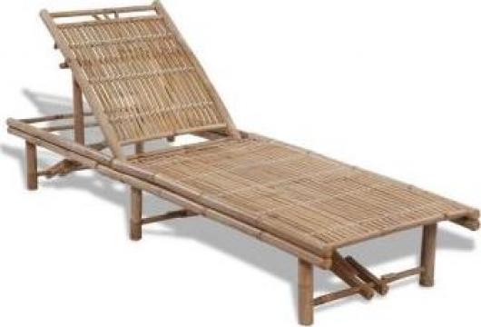 Sezlong din bambus, reglabil de la Vidaxl