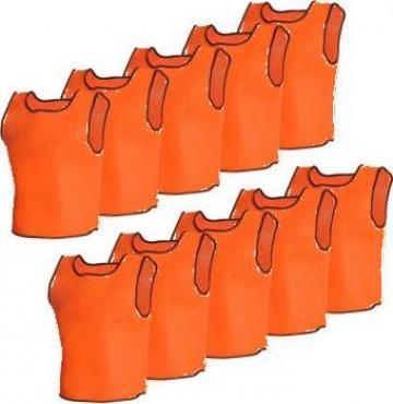 Maieu de departajare sport portocaliu senior 10 buc
