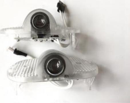 Set proiectoare cu logo 3D Skoda Octavia 2 2005-2013