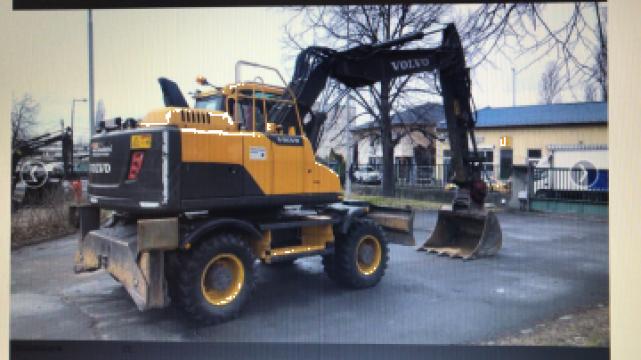 Inchiriere excavator pe cauciucuri Volvo EW 160 D de la Com Trans Tudor C Srl