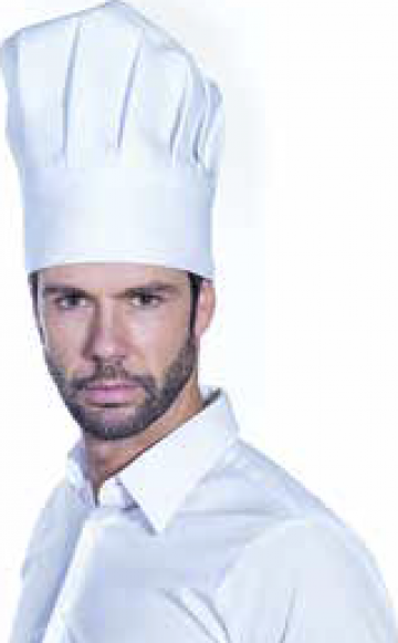 Boneta bucatar Roll Drap Chef alba