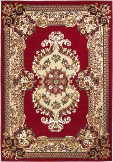 Covor persan, design oriental, 160 x 230 cm, rosu/bej de la Vidaxl