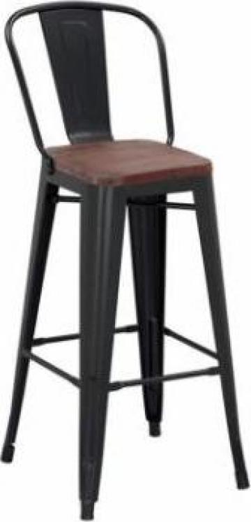 Scaun pentru bar Antique 46x44x117,5cm Black Matte lemn/meta