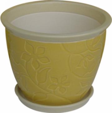 Ghiveci din ceramica pentru flori cu suport 6121