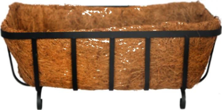 Jardiniera cu fibra de nuca de cocos 46x20x13cm cu picioare