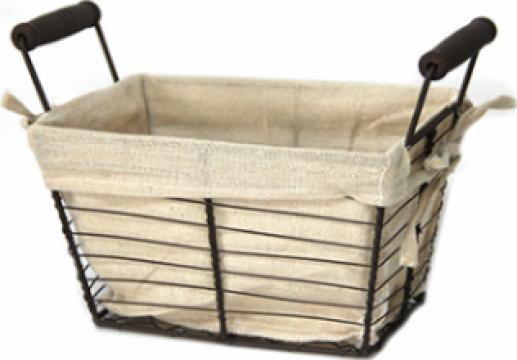 Cos dreptunghiular paine Raki metal - lemn 21,5x10xh15cm de la Basarom Com