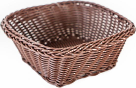 Cos servire paine fructe patrat Raki 17x17x7cm culoare cafea de la Basarom Com